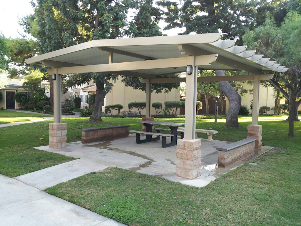 Patio cover styles colors remodel usa for Freestanding patio cover