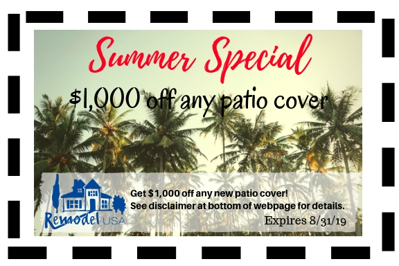 Summer Special Patio Cover Aug 2019
